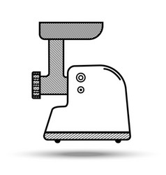 Meat grinder in line art style vector