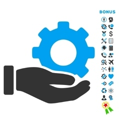 Mechanic Service Flat Icon with Bonus vector image