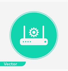 modem router icon sign symbol vector image