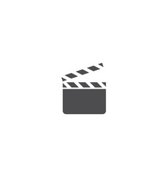 movie logo template vector image