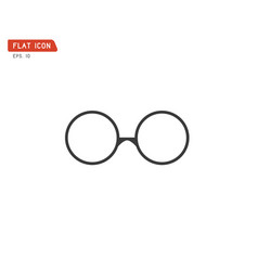 nerd glasses icon retro logo vector image