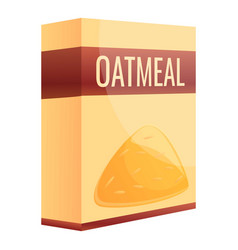 Oatmeal package icon cartoon style vector