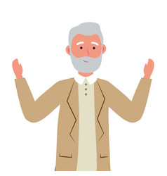 old man avatar vector image