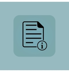 Pale blue information document icon vector