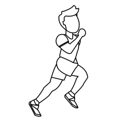 person running outline vector image