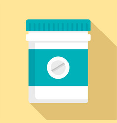 pills bottle icon flat style vector image