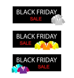 Polo Shirts on Black Friday Sale Banner vector