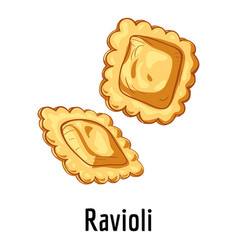 Ravioli icon cartoon style vector