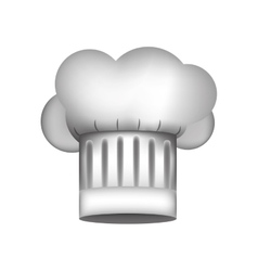 Realistic silhouette of chefs hat with details vector