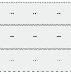 Seagull pattern vector