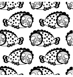 seamless pattern with abstract black and vector image