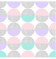 seamless retro memphis pattern with round vector image