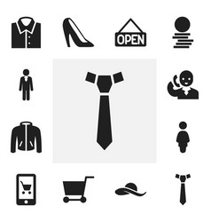 Set of 12 editable shopping icons includes vector
