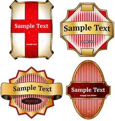 Set of vintage cardboard labels vector