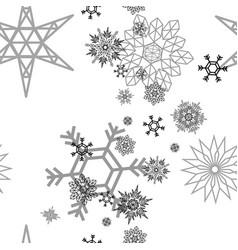 snowflake pattern white vector image