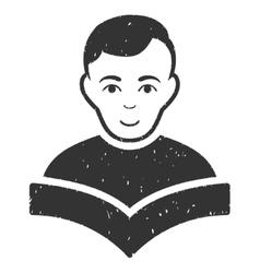 Student grainy texture icon vector
