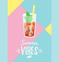 Summer design for season postcard vector