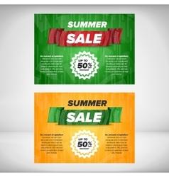 Summer Sale flyer template vector image