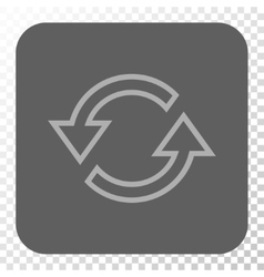 Sync Arrows Rounded Square Button vector