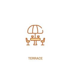 Terrace concept 2 colored icon simple line vector