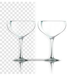 transparent glass party glassware empty vector image