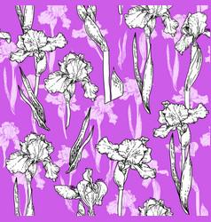 trend violet flowers vector image