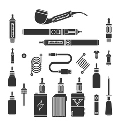Vaping icons vector