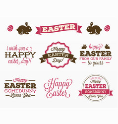 variety easter day stickers vector image