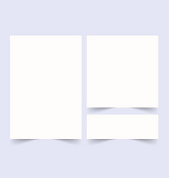 white 3d blank square set banner badge vector image