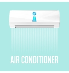 White color air conditioner machine vector image