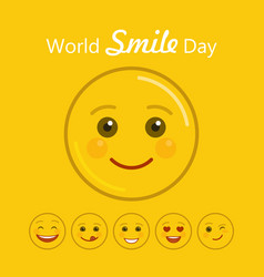 World smile day holiday banner vector