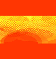 yellow red circles background vector image