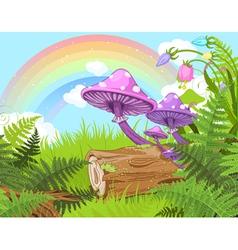 Fantasy landscape vector image vector image