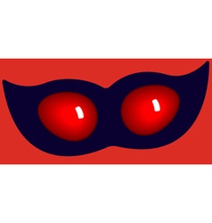Mask and eyes vector image vector image