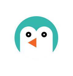 penguin cartoon animal head vector image vector image