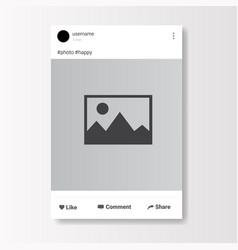 social network photo frame on white background vector image