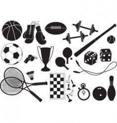 sports equipment vector image
