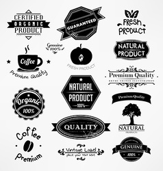 Black and White Bakery Icon Set vector image