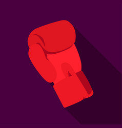 boxing glove icon flate single sport icon from vector image
