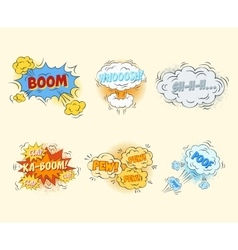 Comic blank text speech bubbles in pop art style vector image vector image