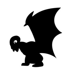 gargoyle silhouette ancient traditional symbol vector image