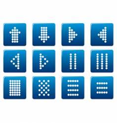 matrix symbols square icons vector image