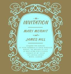 Scribble invitation vector