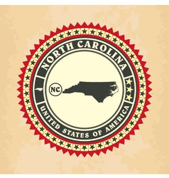 Vintage label-sticker cards of North Carolina vector image