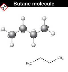 Butane chemical gas compound vector image vector image
