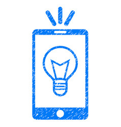Mobile lamp light grunge icon vector