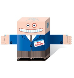Office robot vector image