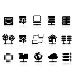 Server and database icon vector image vector image
