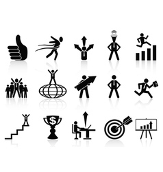 successful business icons set vector image