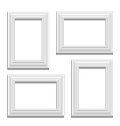 white classis frame set on the wall vector image vector image